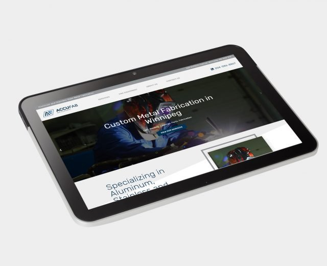 accufab website design and development Winnipeg, MB   Dynamite Design