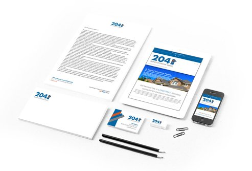 203 Stationary website design and branding banners by dynamite Design