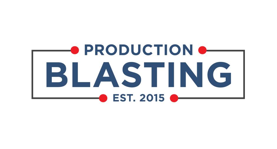 Production Blastin Logo design by Dynamite Design