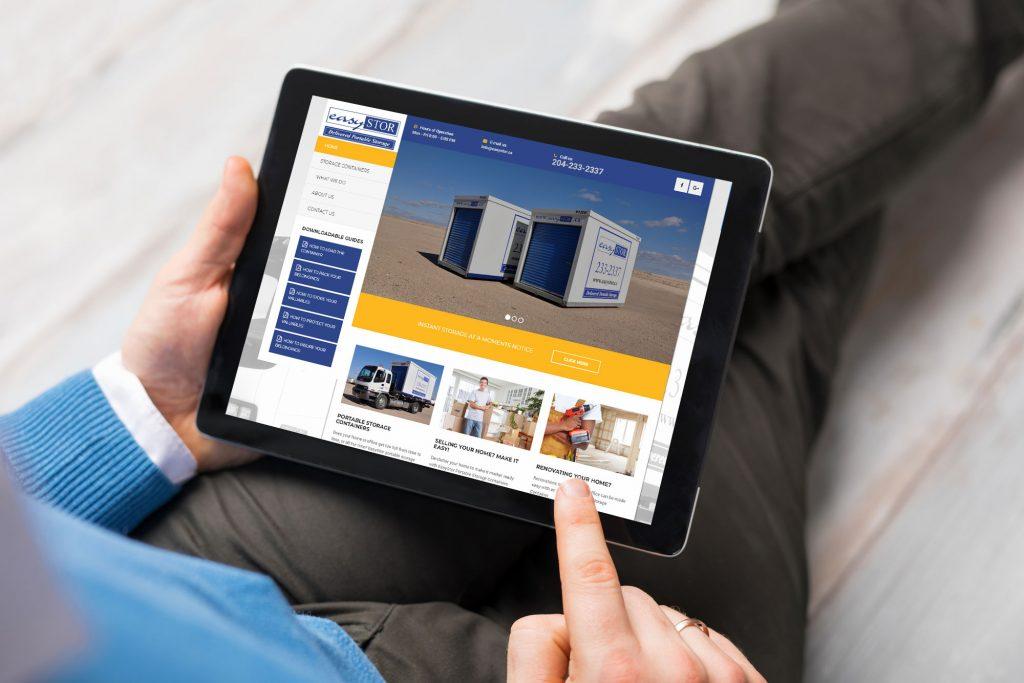 Easy Stor Website design by Dynamite design
