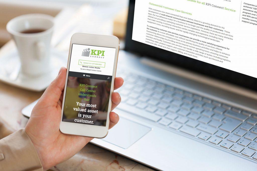 KPI connect mobile responsive website