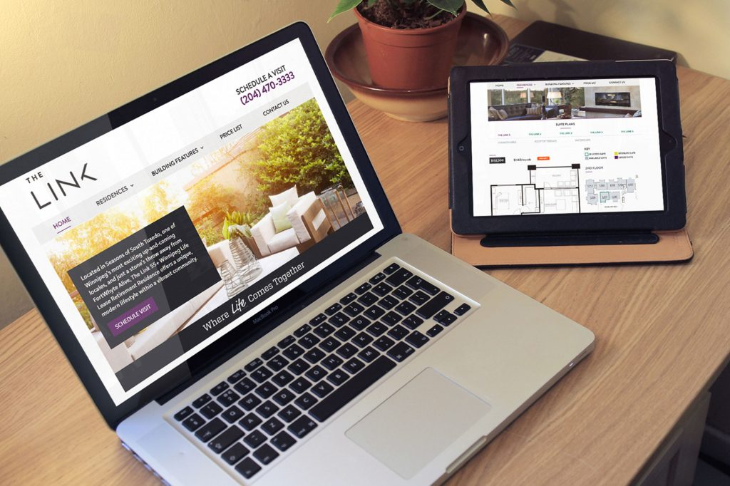 The link web design and website development by Dynamite Design