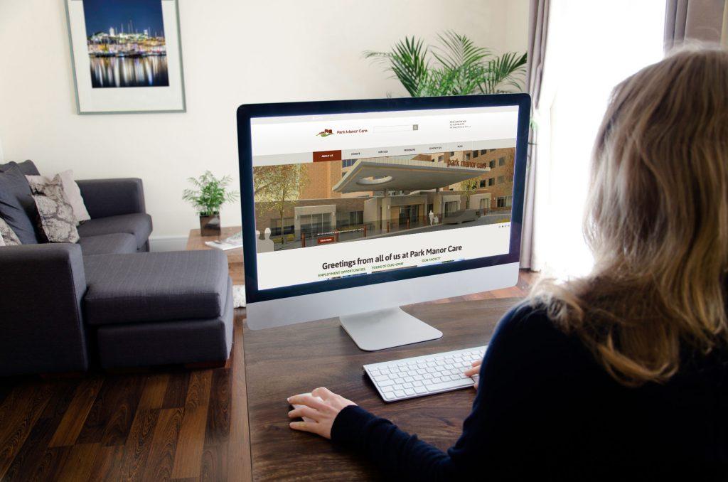 Park Manor Website development by Dynamite Design