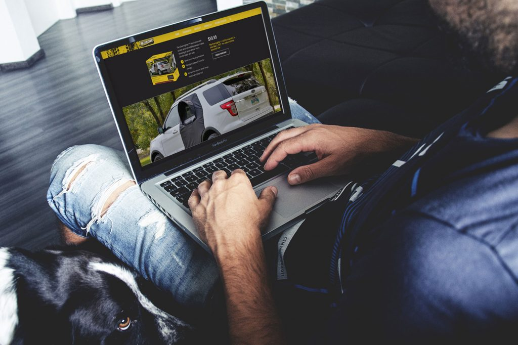 Roadie Website design by Dynamite Design