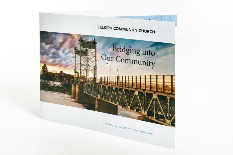 Selkirk Community church brochure design by Dynamite Design
