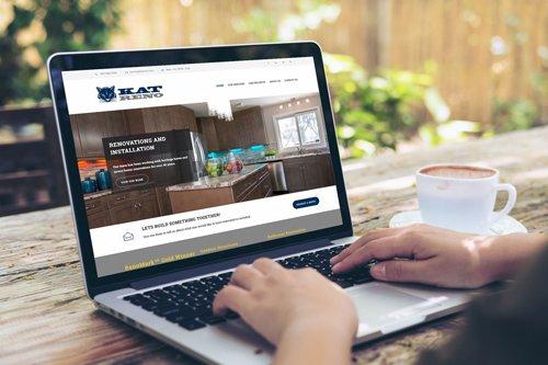 kat reno website design