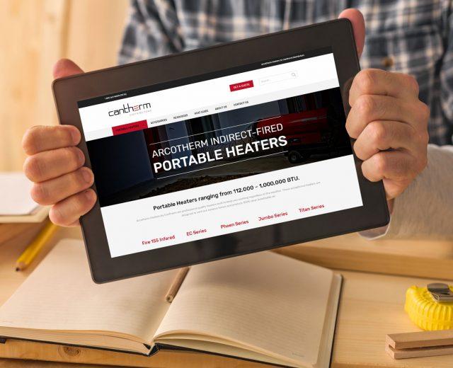 cantherm responsive website tablet design Winnipeg, MB | Dynamite Design