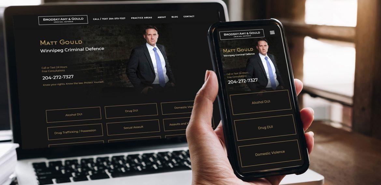 Mattgould Website Design and Development by Dynamite Design Winnipeg
