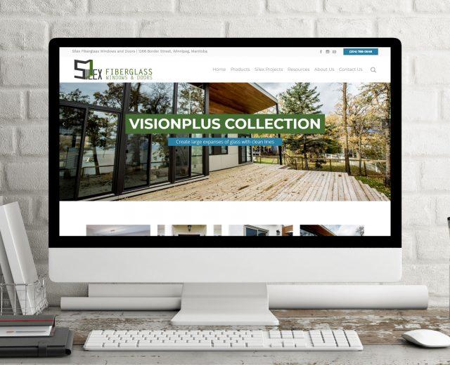 Silex Fiberglass Windows and Doors Winnipeg, MB responsive website designed by Dynamite Design